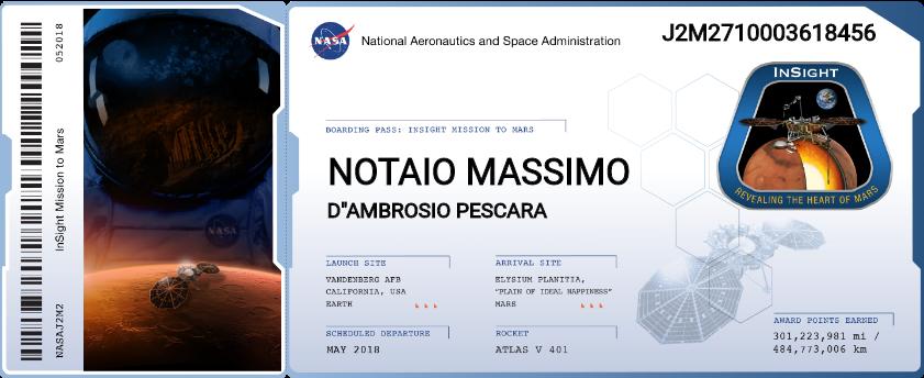 notaio Massimo d'Ambrosio su Marte