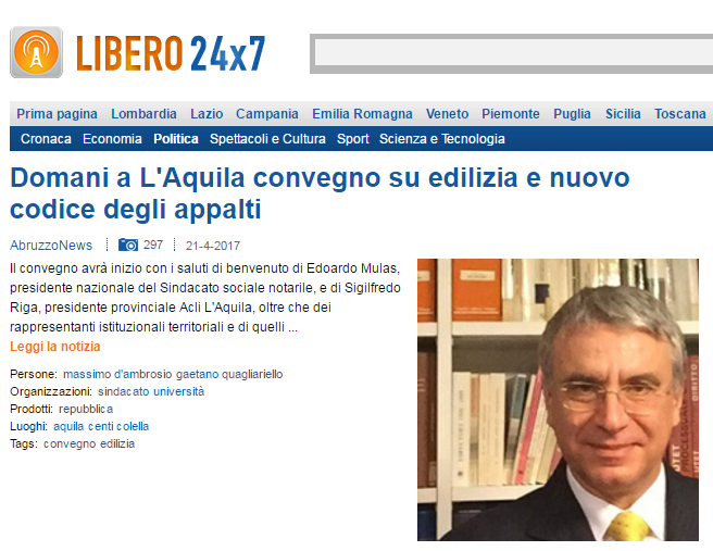 immobiliari notaio d'Ambrosio L'Aquila novelle legislative