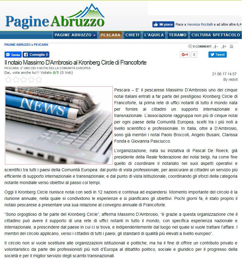 pagine Abruzzo sul kronberg circle di Francoforte
