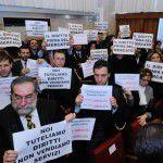 Protesta degli avvocati a Palermo