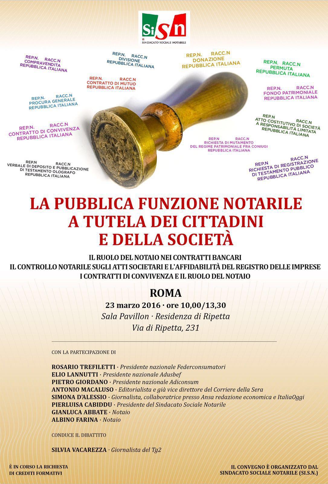 convegno sindacato sociale notaile Roma 2016