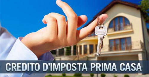 credito imposta acquisto prima casa