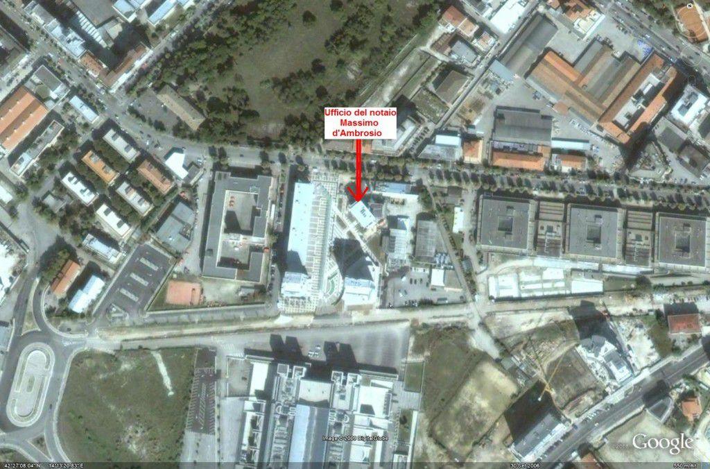 ufficio  notaio Massimo d'Ambrosio dal satellite