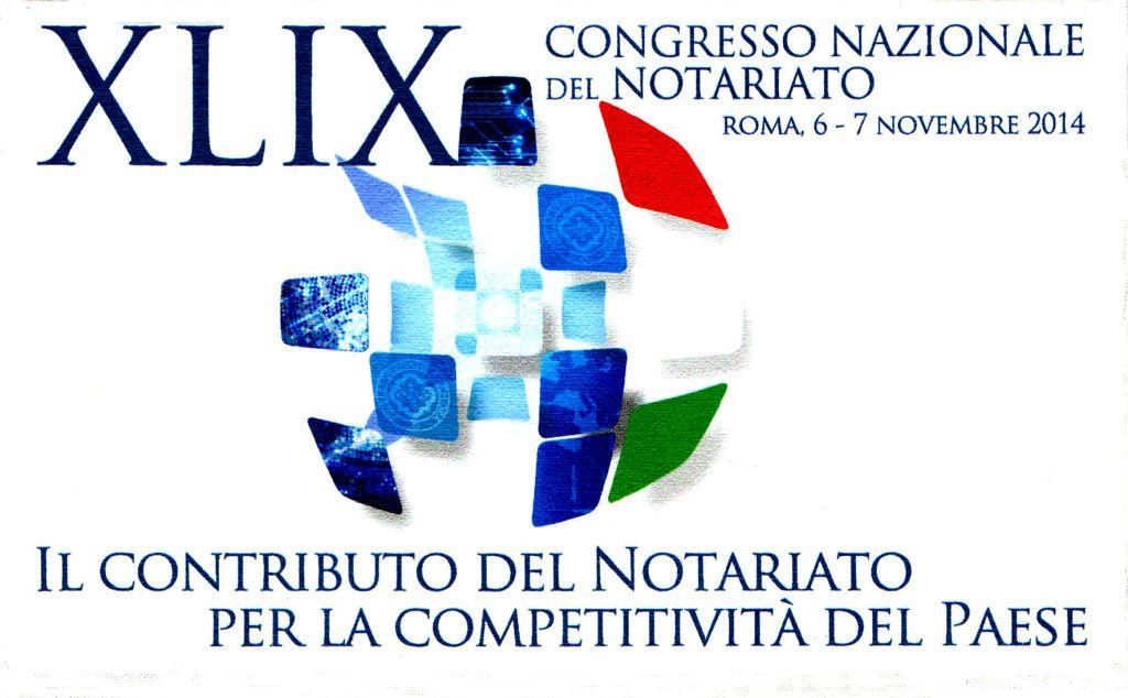 logo congresso nazionale notariato roma 2014