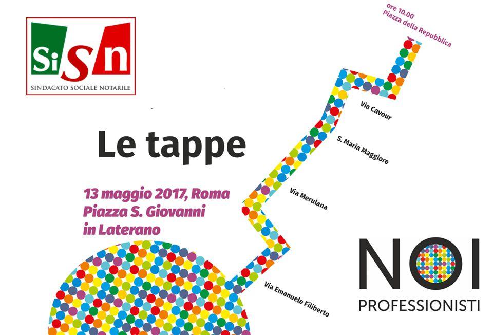 tappe della manifestazione dei professionisti a Roma