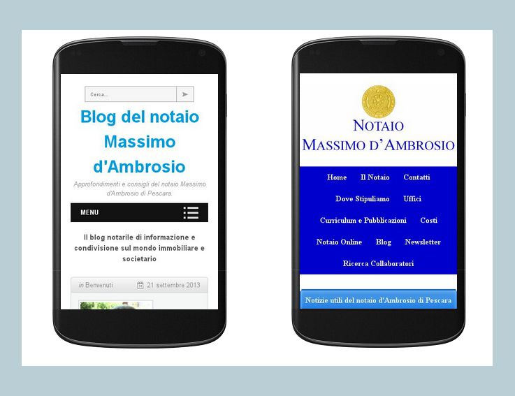 sito e blog notaio d'Ambrosio mobile-friendly