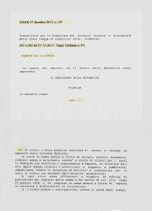 legge 27 dicembre 2013, n. 147 - parte 1