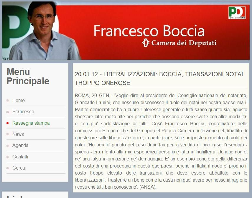pensiero sulla crisi di Francesco Boccia