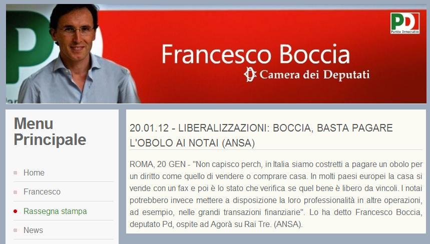 crisi e notai, il pensiero di Francesco Boccia