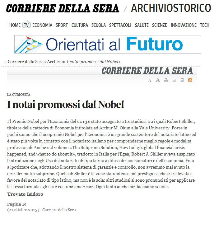 utilizzo del notariato italiano