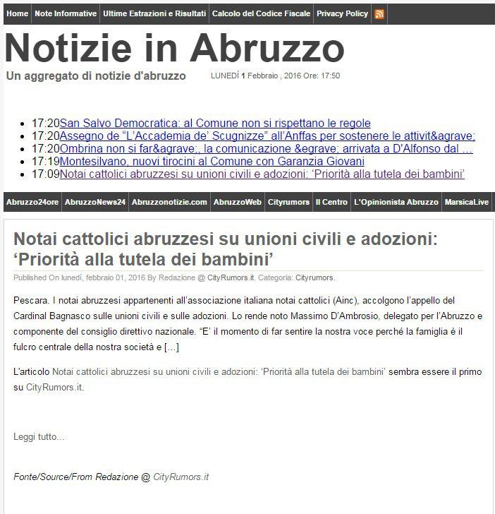 Notizie in Abruzzo_Notaio D'Ambrosio