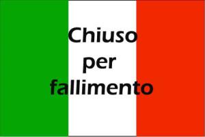fallimento delle imprese italiane
