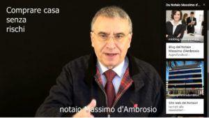 comprare casa senza rischi col notaio Massimo d'Ambrosio