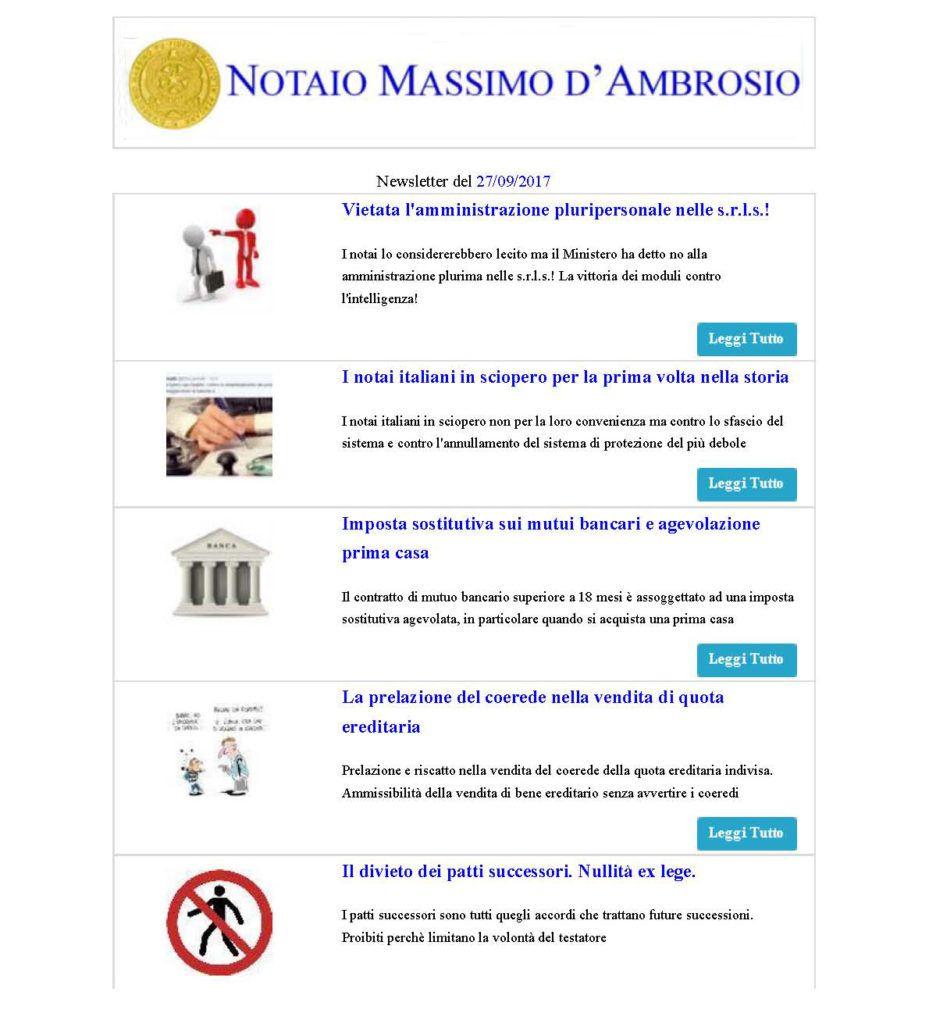 notaio d'ambrosio e la newsletter n. 7