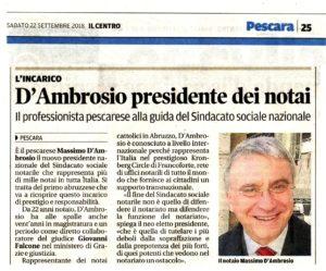 presidente sisn notaio Massimo d'Ambrosio