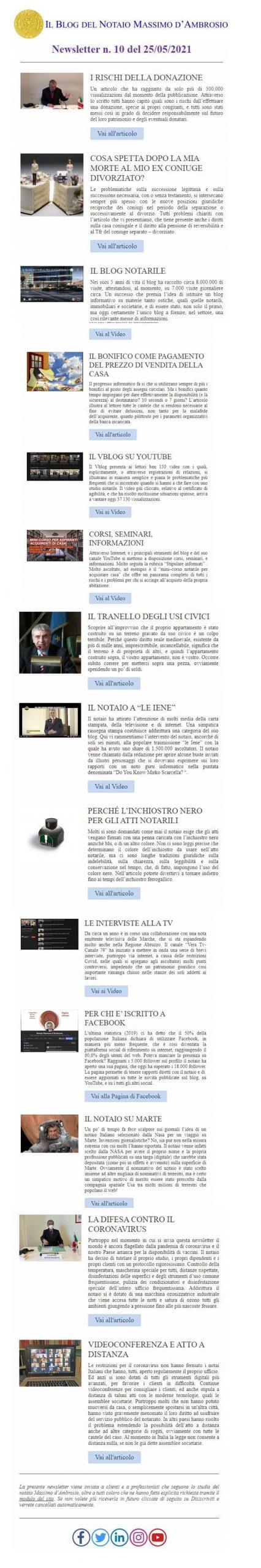 newsletter notaio d'Ambrosio n. 10